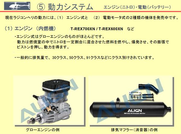 エンジン(内燃機)T-REX700XN / T-REX600XN など