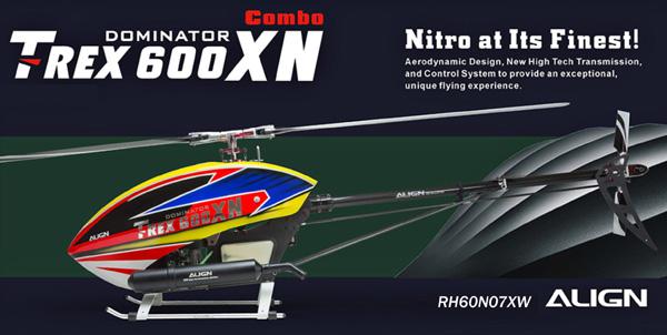 ついに出た T-REX600XN 50クラスの新ニトロヘリ いよいよ発売します!!