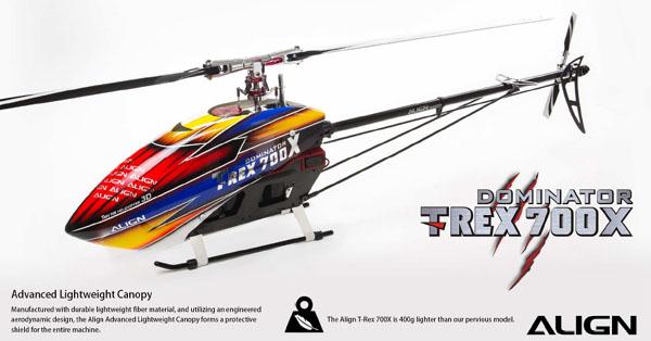 T-REX700Eに新モデルT-REX700Xが登場。 新しい技術が詰まった期待のヘリ!